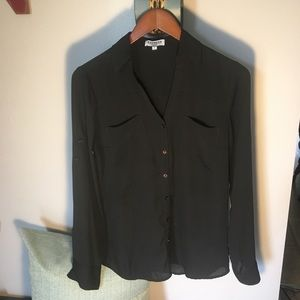 Express Portofino Shirt Shirt Black Size Small